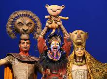 """The opening scene of stage version of """"The Lion King"""""""
