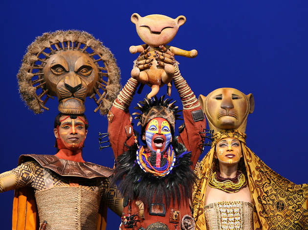 "The opening scene of stage version of ""The Lion King"""