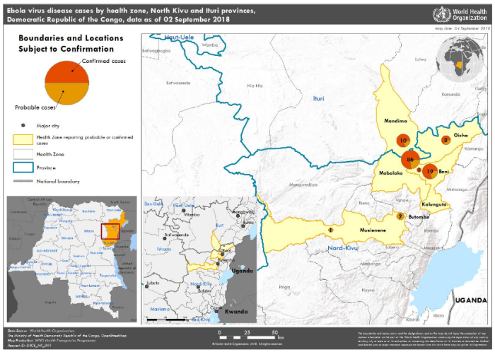 Extent of recent Ebola outbreaks, Republic of the Congo (Source:World Health OrganizationExtent of recent Ebola outbreaks, Republic of the Congo (Source:World Health Organization