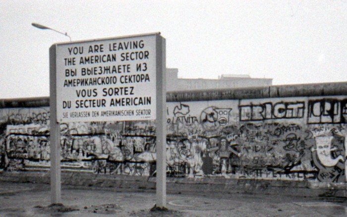 Berlin Wall from the American Sector of West Berlin (Photographer unknown)