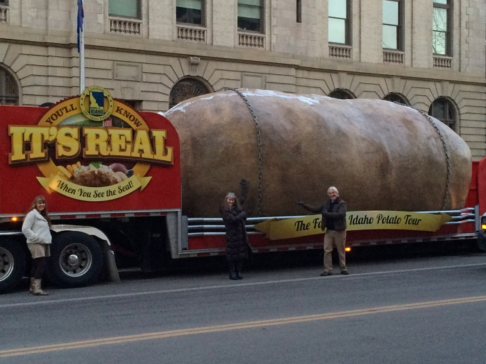 The Giant Potato in Better Days; pro tip: despite sign, it's not real