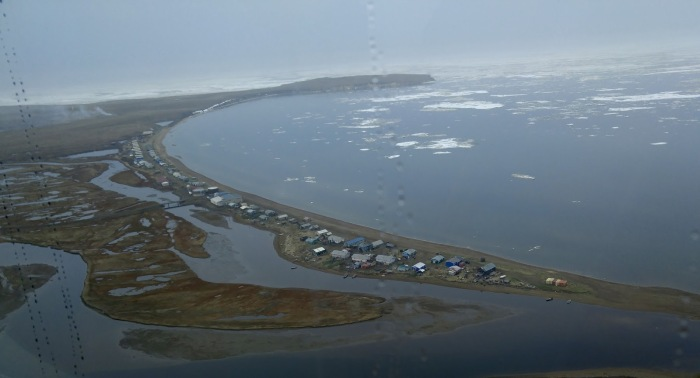 Unidentified Alaska Native coastal village in Alaska