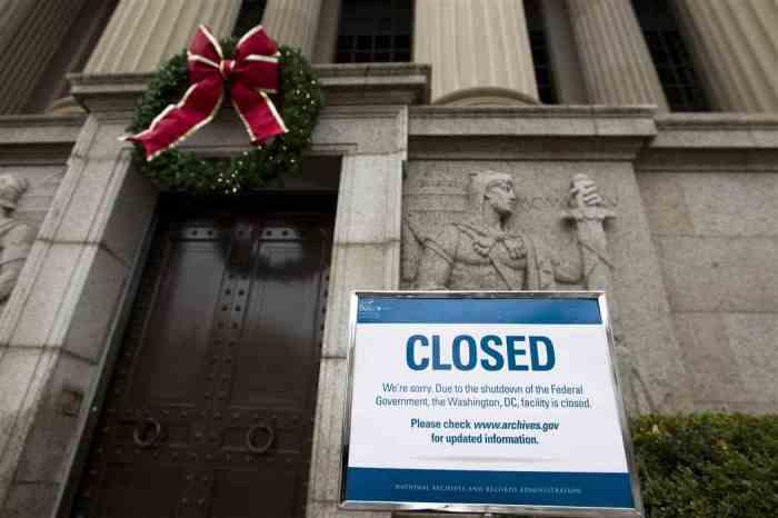 Government shutdown 2019