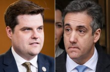 Matt Gaetz and Michael Cohen Getty Images