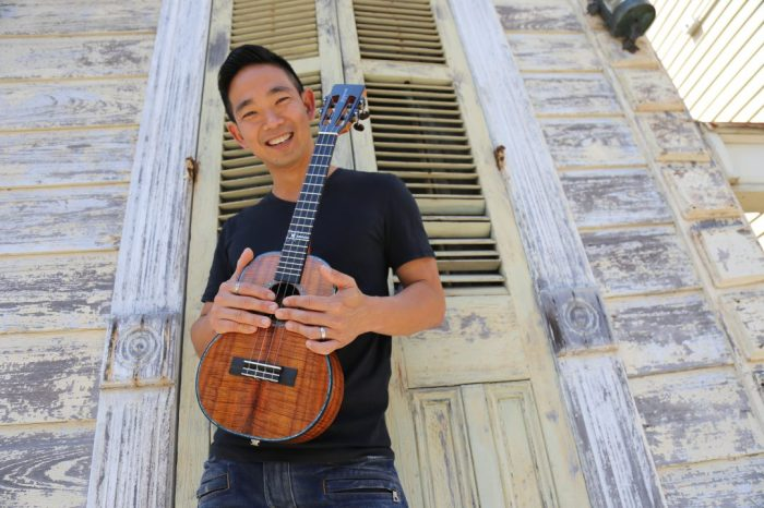 Jake Shimabukuro, New Orleans Jazz Festival, 2018 (publicity photo)