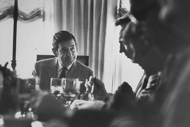 Gov. of Alaska Keith H. Miller (L), during legistatior luncheon. (Photo by Bob Peterson/The LIFE Images Collection/Getty Images)