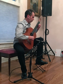 Tomàs Rodrigues, performing at a house concert in Boise, Idaho, March 17, 2019