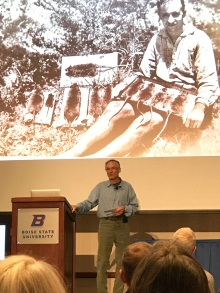 Bernd Heinrich at Boise State University, April 17, 2019