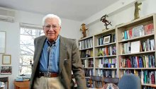 Dr. Murray Gell-Mann in his Santa Fe Institute office, 2014. Photo credit InSightFoto