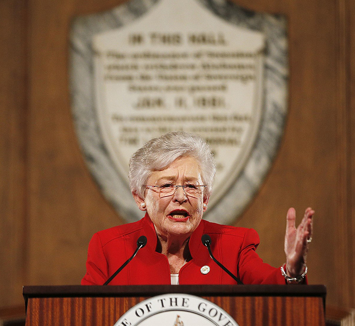 Alabama Gov. Kay Ivey gives the annual State of the State address at the Capitol in Montgomery, Ala. on Jan. 9, 2018.Brynn Anderson / AP file