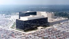 The National Security Agency headquarters in Fort Meade, Maryland. (Credit: NSA)