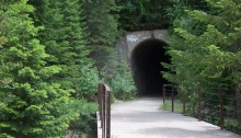 Railroad tunnel, Hiawatha Bicycle Trail, Idaho
