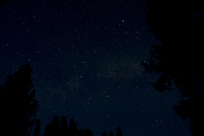 Night sky from Bonneville Campground, South Fork of the Payette River