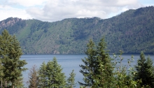 Lake Pend Oreille, looking across to the easterly shore
