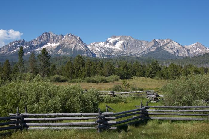 Sawtooth Mountains, eastern Idaho Bathlith, Idaho