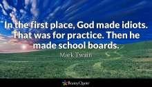 Mark Twain on School Boards