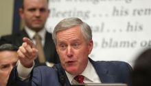 """Rep. Mark Meadows, who promised in 2012 to send President Obama """"back to Kenya."""" U.S. (Alex Wong / Getty Images)"""