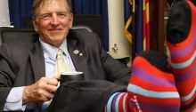 Rep. Paul Gosar shows off his socks, because he doesn't have much else going for him (photo via Twitter)