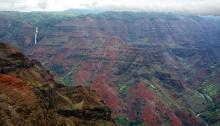 Waimea Canyon from the lower lookout, Kauai, Hawai'i