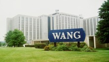 Wang Laboratories Headquarters in Lowell, Massachusetts in 1992 (Photo AP/Townson)