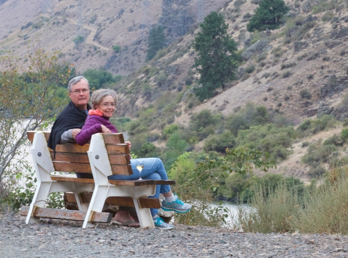 Laurie and John DeWitt, Hell's Canyon, Idaho, September 2016