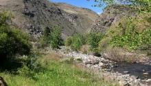 Little Salmon River Valley at Pollock, Idaho