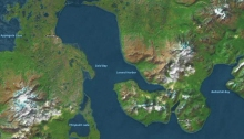 Cold Bay and King Cove, Alaska Peninsula (via Apple Maps)