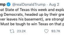 Trump Tweet, August 2, 2020